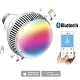 Lampadina Bluetooth Altoparlante, Morpilot LED Lampada Intelligente E27, Luce della Sera RGB/Audio Mini Altoparlante + Luci Multicolore - Funziona con IPhone, IPad, Apparecchi Android e Tablet