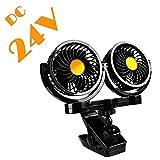 After partz HX de 02–24V 24V Dual Head eléctrico de Auto de ventilador con clip
