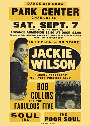 "Vintage JACKIE & BOB WILSON & COLLINS FAVOURITE cinque & SOUL INC & POOR SOULS c1968 250, G Cartolina illustrata, formato A3 """