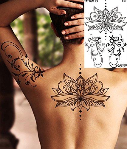 tattoo id xxl lotus fleur tatouage ephemere temporaire hypoallerg nique fabriqu en france 1. Black Bedroom Furniture Sets. Home Design Ideas