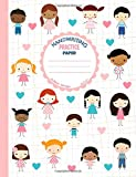 Handwriting Practice Paper: Blank Lined Paper Notebook with Cute Boys and Girls, Large Composition Book for Kids from Kindergarten to 3rd Grade, 8,5x11 inches 50 Sheets/100 Pages, Dotted Midline