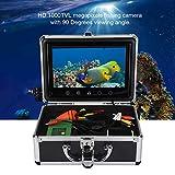 ASHATA Fish Finder Camera, Underwater 30 LEDs 1000TVL Telecamera Subacquea per Pesca, 9 Pollici TFT Monitor a Colori Subacquea Macchina Fotografica con Scatola di Alluminio (EU)