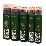 MD® Coloré Non soluble dans l'eau Crayon Dessin artistique, croquis, enfants ou adultes de dessin, crayons, lot de 12/18/24/36/48Couleurs assorties 24