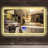 Badezimmerspiegel Touchscreen LED Wandspiegel - Verbessern Sie den multifunktionalen...