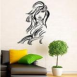 Adesivi murali per parrucchieri per saloni di bellezza per capelli Stile di moda per donna Adesivi murali in pvc per belle arti 78Cmx59Cm