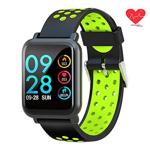 TagoBee TB12 IP68 wasserdichte SmartWatch HD Touchscreen Fitness Tracker Unterstützung Blutdruck Herzfrequenz Schlafüberwachung Schrittzähler kompatibel mit Android und IOS