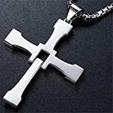 DADATU Collar Hombre Fast and Furious 8 Cross Cross Stainless Steel River For Men Dominic Toretto Cross Pentdon