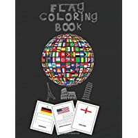 flag coloring book: flag coloring book.: world flags coloring book. Technical and identification card for countries for kids .a toddler coloring book ... in 30 color pages, 8.5*11 no bleed and glossy