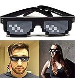 Wokee Thug Life Brille 8 Bit Pixel Deal mit IT Sonnenbrille Unisex Sonnenbrille Spielzeug Moderne & Modische Jungen & Mädchen Designer Retro Brillen