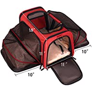 Premium Airline Approved Expandable Pet Carrier by Pet Peppy®- TWO SIDE Expansion, Designed for Cats, Dogs, Kittens, Puppies - Extra Spacious,