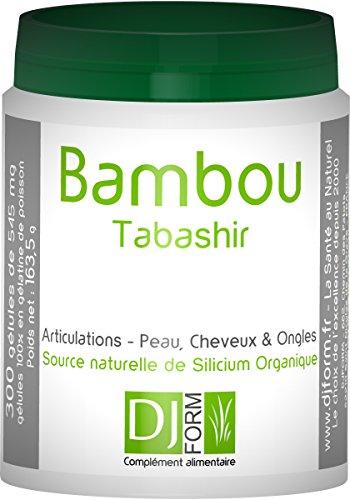Bambus Tabashir Extrakt - 300 Kapseln - Enthält natürliches organisches Silizium - Hergestellt in Frankreich