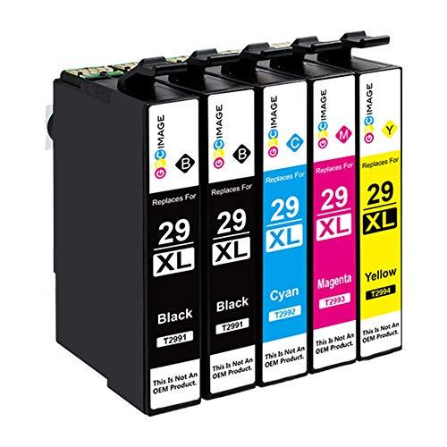 GPC Image 29XL- Kompatible Tintenpatronen als Ersatz für Epson 29 29XL für Epson Expression Home XP-342 XP-245 XP-442 XP-235 XP-335 XP-345 XP-432 XP-435 XP-332 XP-247 XP-445(B/C/M/Y, 5er-Pack)