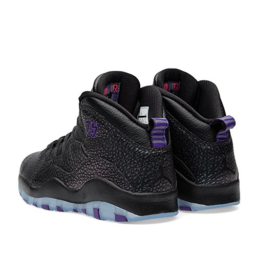 Nike Air Jordan Retro 10, Chaussures de Sport-Basketball Homme, Gris Black/Fierce Purple-Black
