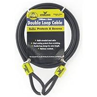 Sterling 825C - Cable trenzado de seguridad de bucle doble (acero, recubrimiento de vinilo, 0,8 cm x 2,5 m) [Importado de Reino Unido]