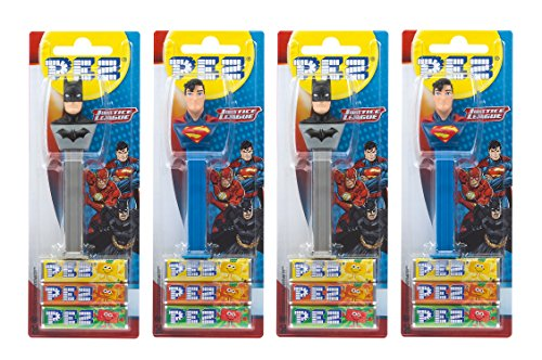 PEZ set dispensadores Justice League 4 dispensadores