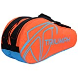 Triumph Pro-303 Badminton Kit Bag Orange/Sky 10 Racket kit bag