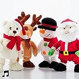 Tanzende und singende Weihnachtspuppe (Schneemann)