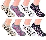 8 Paar Damen Sneaker 'Leopard' in 4 tollen Farben mit fetzigem Leopardenmuster,...