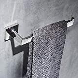 Beelee Towel Rail Polish Chrome,Towel Ring Wall Mounted,SUS 304Stainless Steel,Open-Arm Design Single Bar