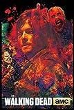 Scorpio Walking Dead Blacklight 24x 36Art Poster Print par Posters:
