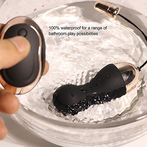 Bullet Vibrator Vibro Ei,Himall Fernbedienung Silikon Sexspielzeug Vibro Vibrationseier Orgasmus mit 10 Frequenzen Schwarz - 7