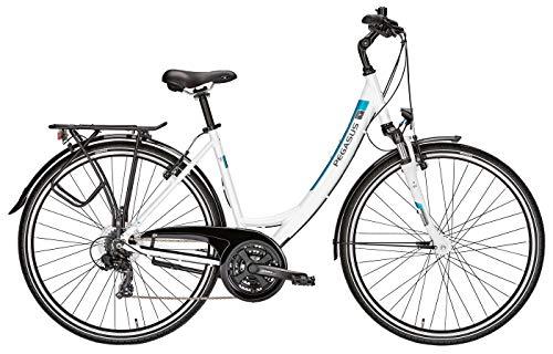 Fahrrad 28 Zoll weiß - Pegasus Piazza Citybike Tiefeinstieg - Shimano Kettenschaltung, STVZO Beleuchtung