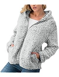 Frauen-Winter-beiläufige warme Reißverschluss-Jacken-Feste Outwear-Mantel-Oberbekleidung Damen Strickjacke Herbst gr.grössen
