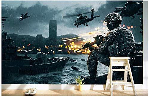ierte Foto 3D Raum tapete vlies wandbild The Gulf war Film tv wanddekoration malerei 3D wandbilder tapete @ 200x140_cm_ (78.7_by_55.1_in_) _ ()