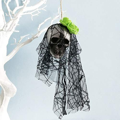 Party DIY Decorations - 4 Colors Halloween Lace Flower Skull Hang Decorations Veil Hanging Easter Festival Tablecloth Decor - Party Decorations Party Decorations Skull Belly Veil Princess T -