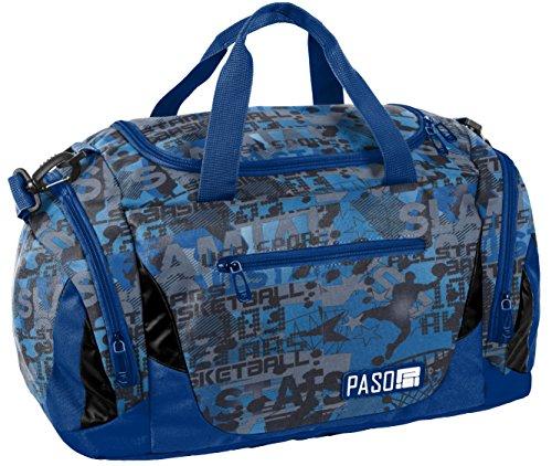 (SPORTTASCHE Reisetasche Mädchen Jungen Damen Sauna Tasche Sport Schul Weekender Blau Basketball)