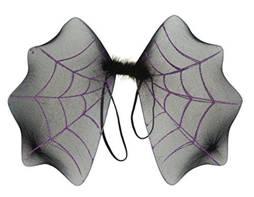 er Halloween Fancy Dress Party Fledermaus Spider Web Flügel schwarz lila (Mädchen-party-thema-ideen)