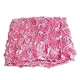 """Yasheep 140* 200cm satin 3D rose Flower soggiorno pavimento tappeto Fluffy tappeto rotondo artificiale in Floor tappeto per corridoio matrimonio wedding Decor, rosa, Approx 140cm*200cm(78.74""""Width x 39.4""""Lenth)."""