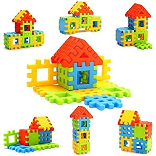 Nabhya Happy Home PVC Packing Building Blocks Early Learning Educational Toy for Kids Age 2 to 5 20 Blocks