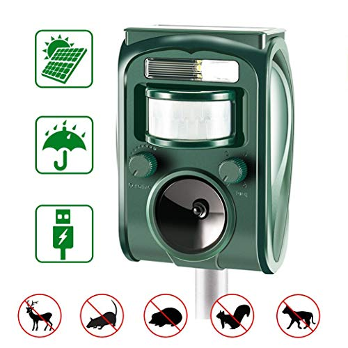 zonpor Repellente Gatti, Ultrasuoni Gatti Solar Animale Repeller Impermeabile per Allontanare Animali,...