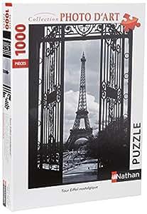 Nathan - 87 570 2 - Puzzle - Tour Eiffel Nostalgique - 1000 Pièces