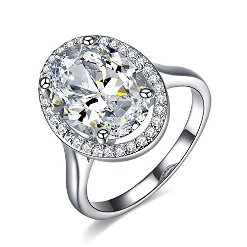 Halo Verlobungsring Cz (UMODE Damen -  Sonstige  Messing Ovalschliff   DEF Oxyde de Zirconium )