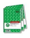 Sigel SD033 Rechnungen A6, 2x40 Blatt, selbstdurchschreibend, 3 Stück