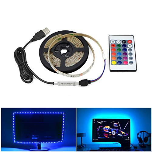 Zigarettenanzünder-pc (LHY LIGHT 5V USB Power LED Streifen Licht RGB HDTV TV Desktop PC Bildschirm Hintergrundbeleuchtung & Schrägbeleuchtung, 5M)