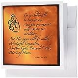 3drose Jesaja 97Bibel Vers Vorhersage von Jesus Geburt für Weihnachten Gravur auf Kupfer Hintergrund–Grußkarten, 15,2x 15,2cm, Set 6(GC Hängelampe _ Artikelnummer 31347_ 1)