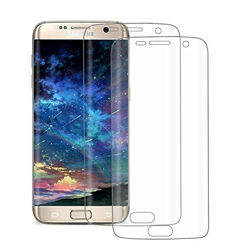 2-Pack Protector de Pantalla Samsung Galaxy S7 Edge, POOPHUNS Protector Pantalla para...