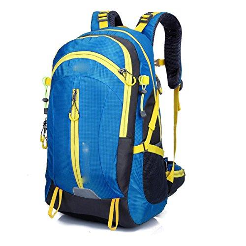 LQABW Neue Outdoor-Bergsteigen Tasche Reiten Spielraum-Schulter-wasserdichtes Sport-Rucksack Oxford Tuch Durable Lässige Climbing Rucksack Blue