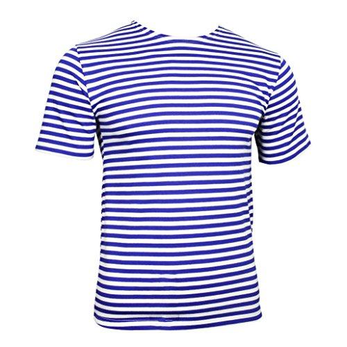 Russische Fallschirmjäger -T-Shirt - hellblauen Streifen (XX-Large, Hellblauen Streifen) -