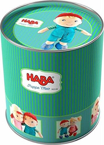 Haba Puppe Theo, Plüsch Figur, Plüschfigur, Kuschelfigur, Stoffpuppe, Puppenspiel, Spielzeug, 303149