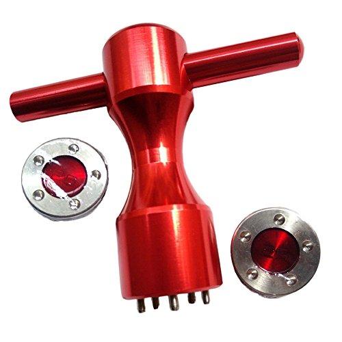 Beehive Filter, rote Golf-Gewichte mit rotem Schlüssel für Titleist Scotty Cameron, California, Newport Kombi, My Girl Putter, Neu, 2x25g+wrench (Gewicht Putter Kit)