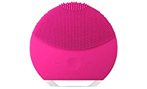 FOREO LUNA mini 2 Facial Cleansing Brush and Anti-aging Skin Care device made with Soft Silicone for Every Skin Type, Fuchsia, USB Rechargeable