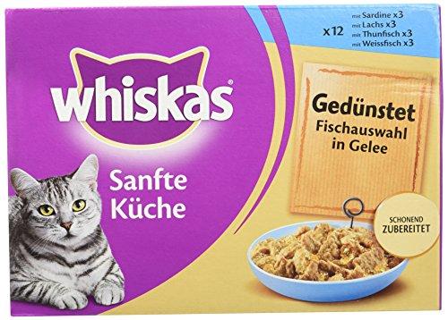 whiskas-simplement-bon-cuit-la-vapeur-aux-poissons-en-gele-sachets-fracheur-12-x-85g-lot-de-4