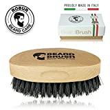 Boreal - Cepillo para barba hecho en madera de haya y cerdas de jabalí 100% naturales. 100% hecho en Italia