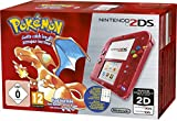 Nintendo 2DS Konsole inkl. Pokemon Rote Edition - Rot Transparent