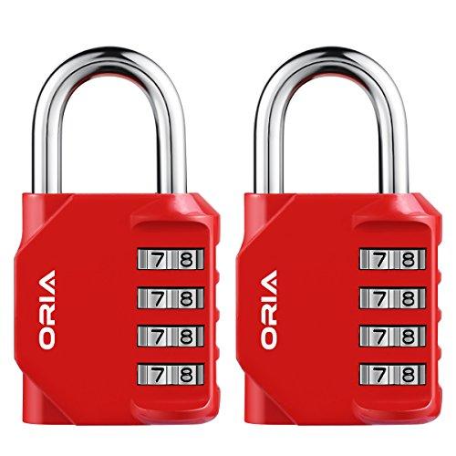 【Nueva Versión】ORIA 2 Pcs Candado de Combinación, Candados Combinación de Seguridad con Combinaciones...