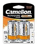 Camelion 17070220 Akku (NiMH, Mono, R20 (D), 7000 mAh, 2er-Pack)